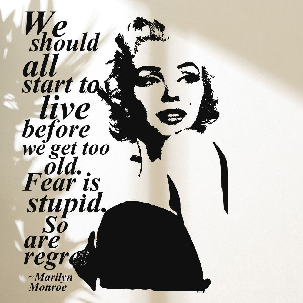 Great 3d Poster Wall Stickers Marilyn Monroe Wall Decal Vinyl Stickers Home Decor  Bedroom Adesivo De Parede Part 30