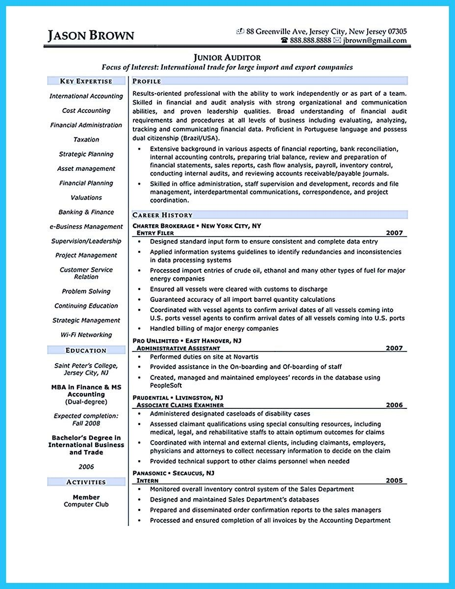 Awesome Making A Concise Credential Audit Resume Resume Accountant Resume Accounting