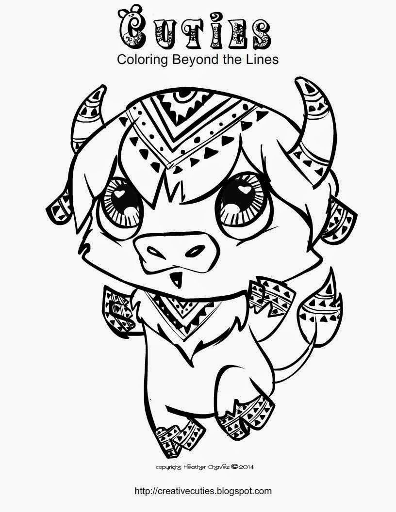 Cuties Coloring Pages Animal Coloring Pages Cute Coloring Pages Coloring Pages