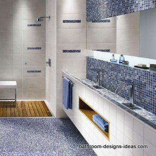 Glass Bathroom Tile Design Ideas | mosaic floor tile, mosaic floor, bathroom flooring,floor tiles mosaic ...