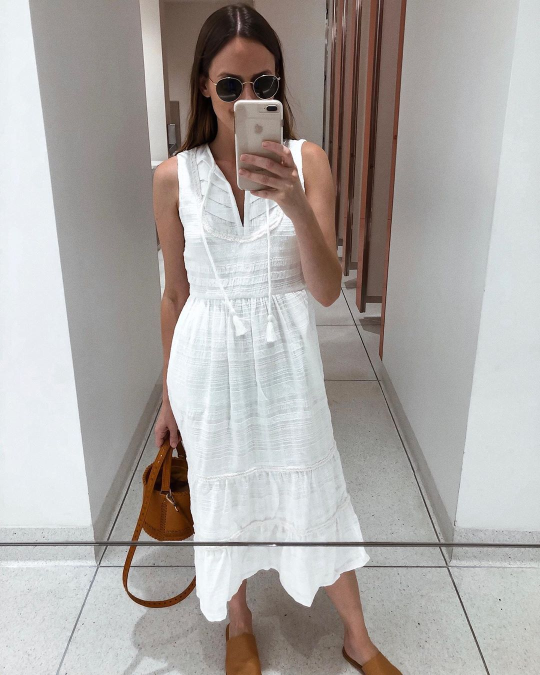 Little White Dress Outfit Summer Style Summer Dresses White Summer Dresses White Midi Dress Outfit White Dress Outfit Summer Dresses Classic Summer Dresses [ 1350 x 1080 Pixel ]