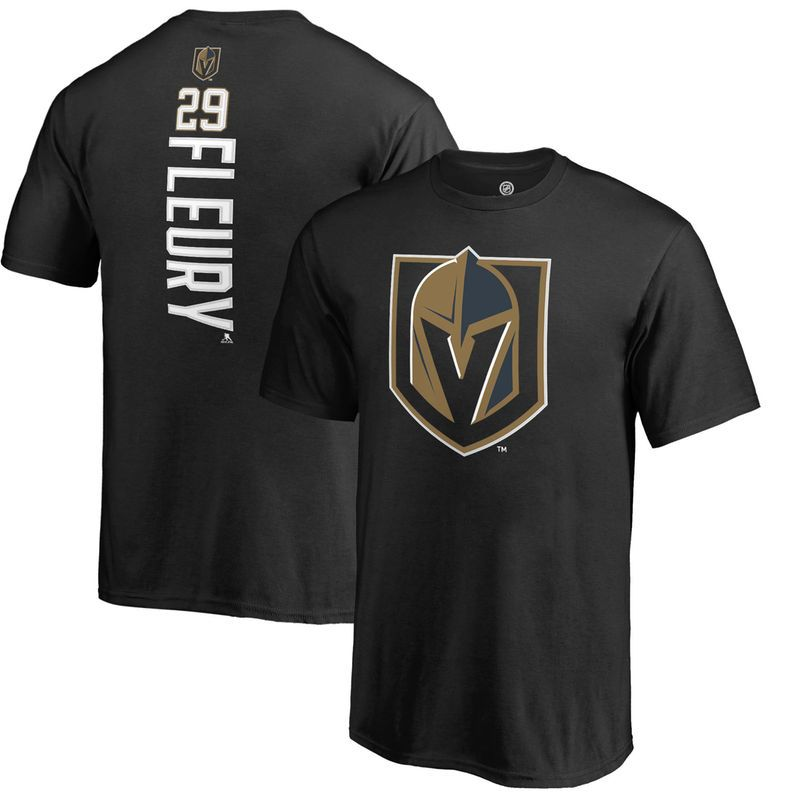 071e0e882 Marc-Andre Fleury Vegas Golden Knights Fanatics Branded Youth Backer Name    Number T-Shirt - Black