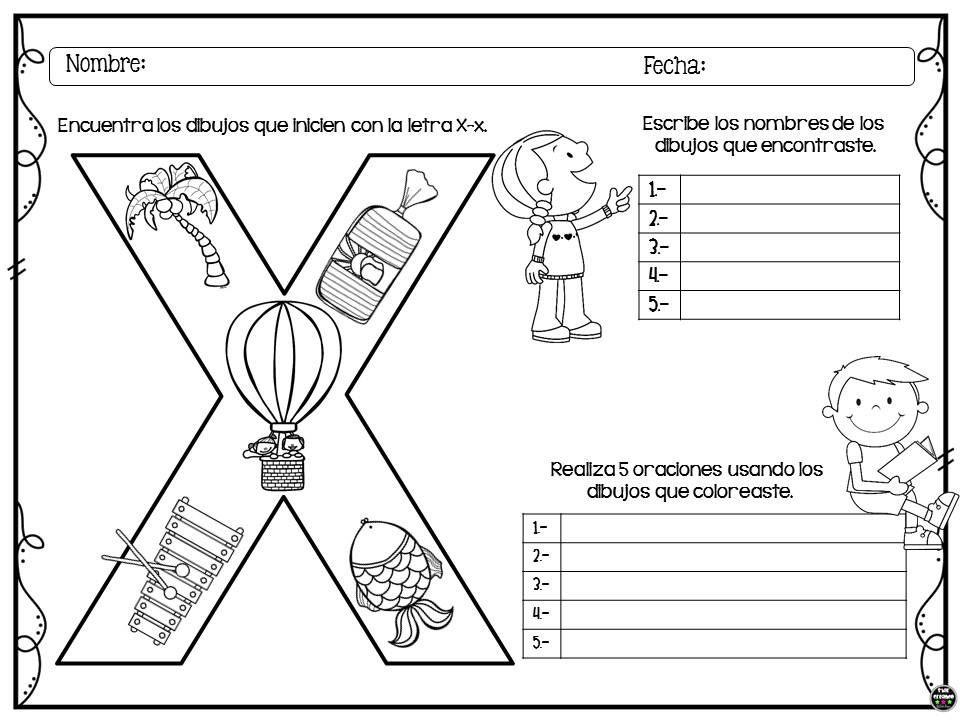 Colorea Encuentra Y Escribe Para Preescolar Y Primer Ciclo De