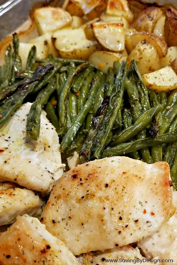 This One Dish Baked Italian Dressing Chicken And Veggies Is The Perfect Way To Italian