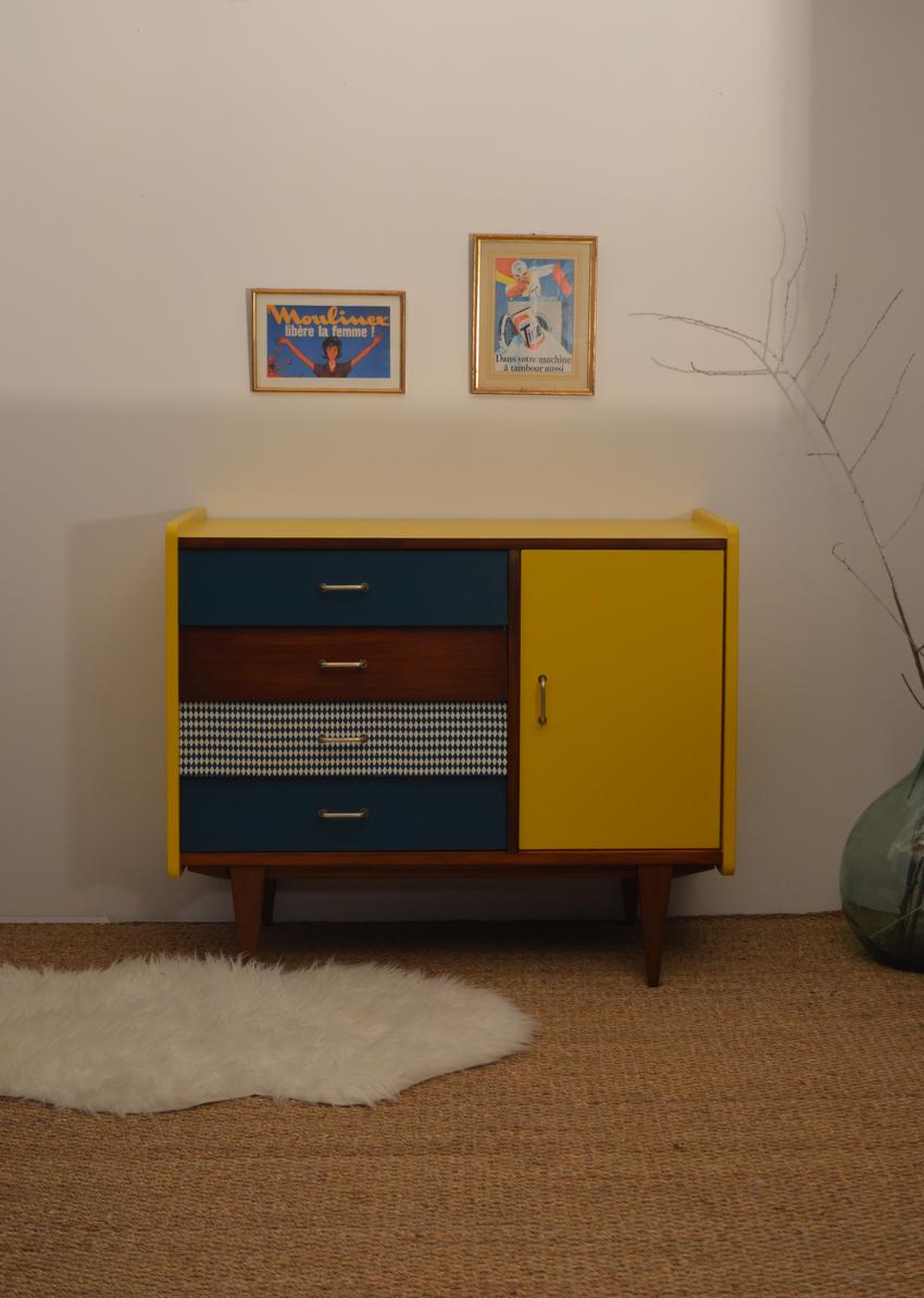 petit buffet vintage octave meubles vintages lilibroc en 2019 mobilier de salon. Black Bedroom Furniture Sets. Home Design Ideas