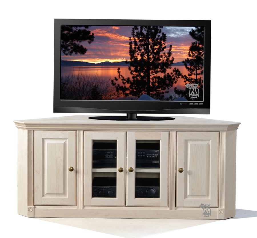 Maple Wood Federal Face Frame Crown Corner Tv Stand Unfinished