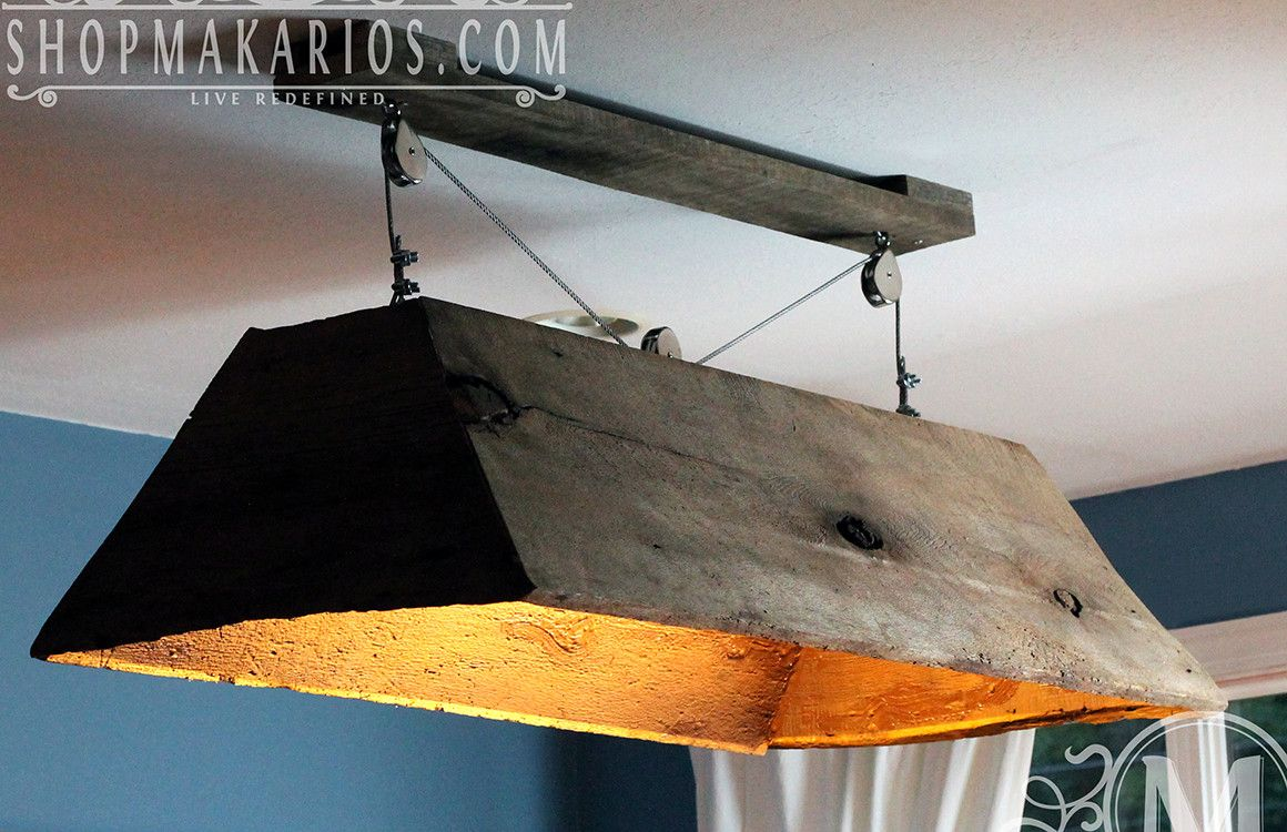 Hanging Barn Wood Light Barn wood projects, Pool table