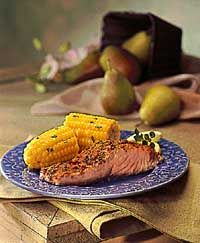 Southwest Roasted Salmon Corn. I would like to do this one on the grill!