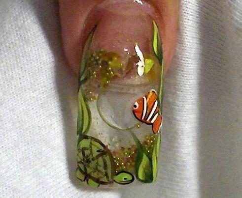 Aquarium Nails Crazy Nail Art Aquarium Nails Aqua Nails