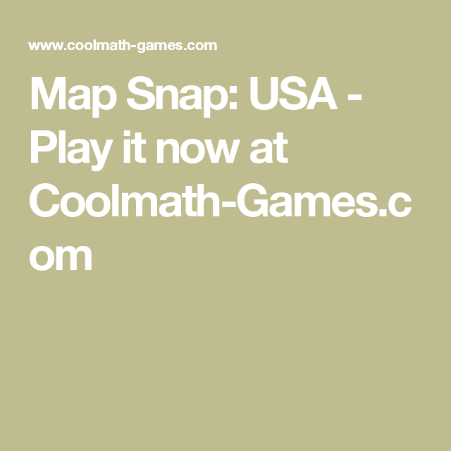 Map Snap Usa Play It Now At Coolmathgames Unit Study: Map Snap United States Cool Math Games At Usa Maps