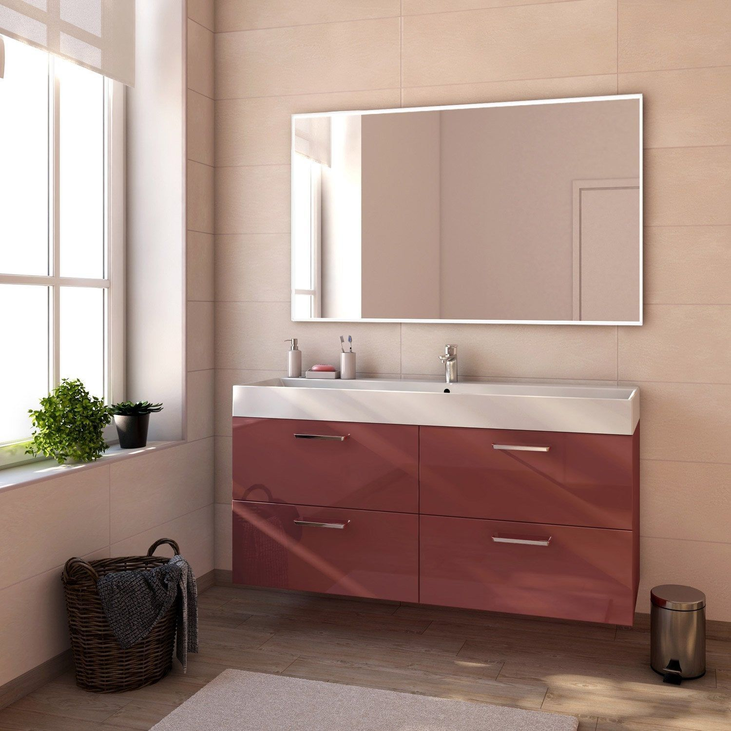 Meuble De Salle De Bains Neo Line Sensea Scandinavian Bathroom Bathrooms Remodel Sensea
