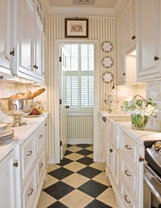 Charming Beautiful, Efficient Small Kitchens | Traditional Home