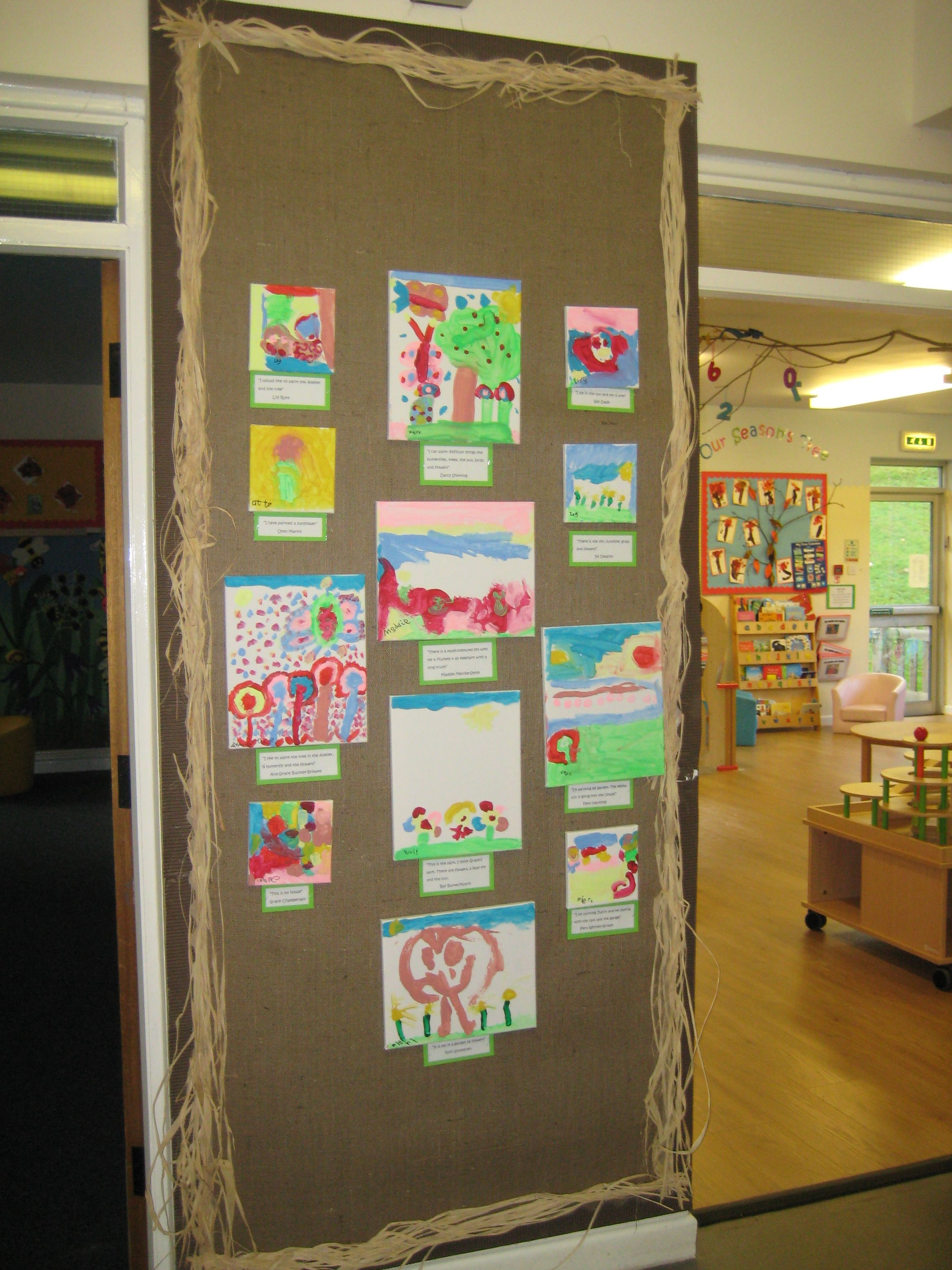 Classroom Layout For Kindergarten ~ Hessian display boards school displays