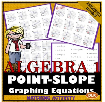 point slope form matching activity  Graphing Linear Equations from Point-Slope Form Matching ...