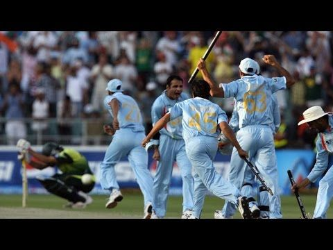 Cricket T20 Match Highlights India Vs Pakistan T20 World Cup Final 2007 Highlig India Vs Pakistan Team Wallpaper India Cricket Team