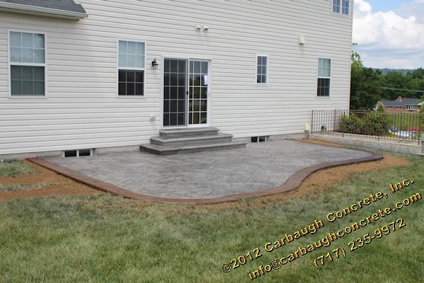 Stamped Concrete Patio York Colored Concrete Patio Patio