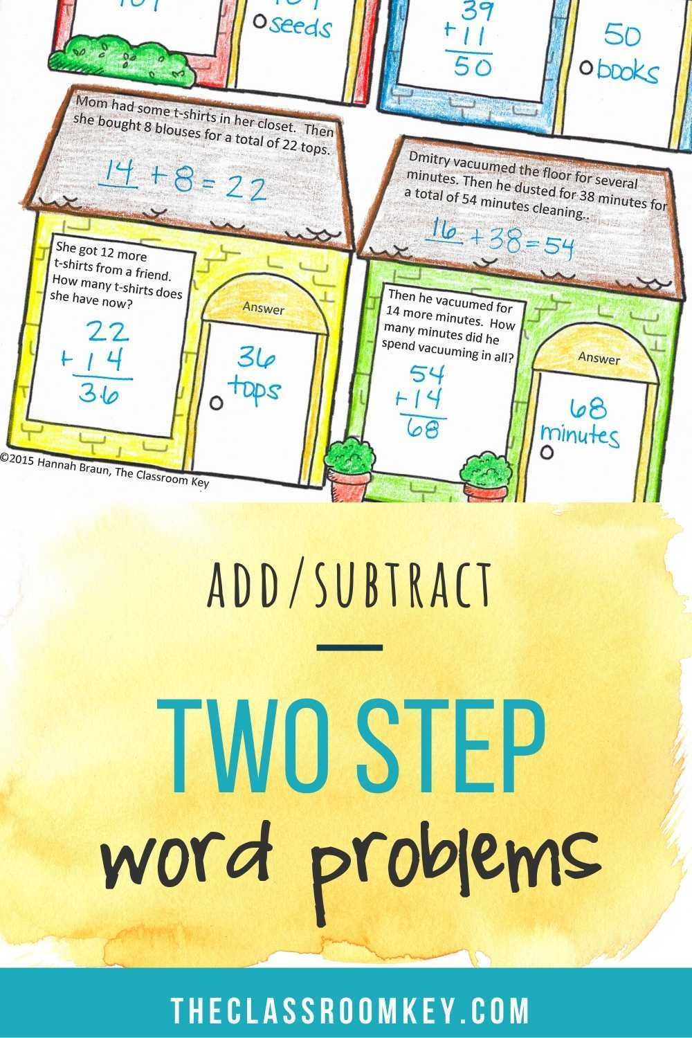 Two Step Word Problems Addition And Subtraction Word Problems Subtraction Word Problems Addition Word Problems Two step addition and subtraction word