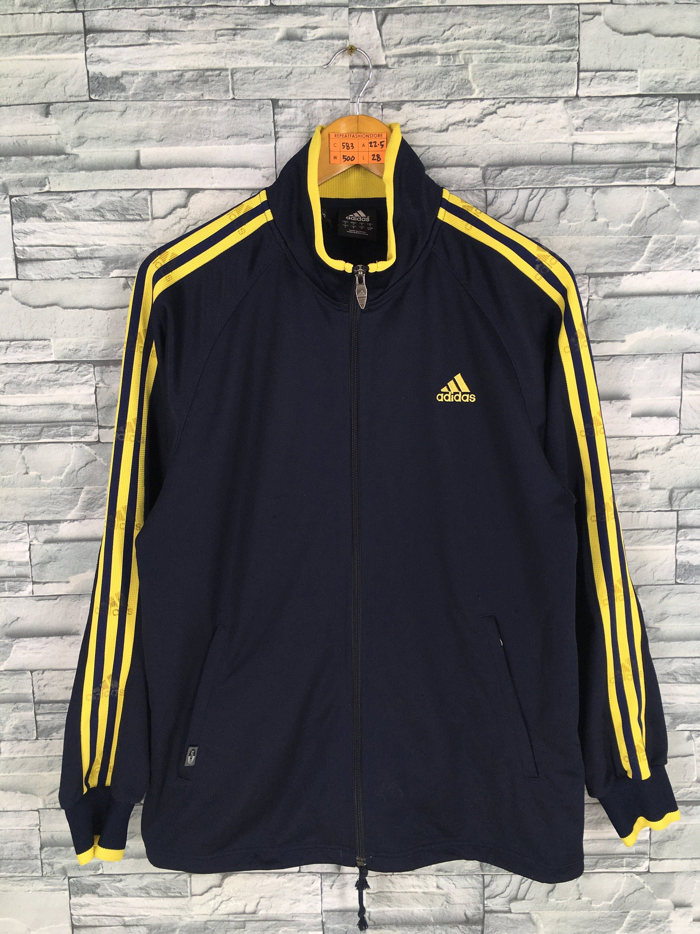 451e5d0d6c1b9 Vintage Adidas Track Top Mens Medium Vintage 90's Adidas Equipment ...