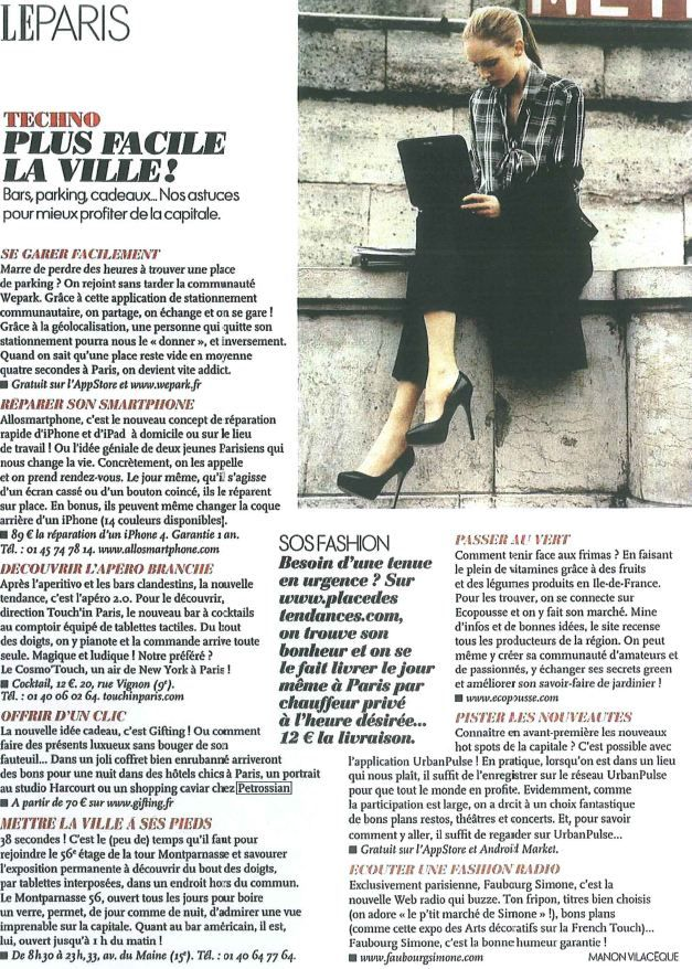 Elle Paris 23 Novembre 2012 - Shopping Caviar chez Petrossian....