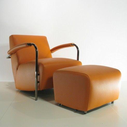 Leren Fauteuil Leolux.Leolux Fauteuil Scylla In Leer Senso 7600 Apricot Design Stoelen