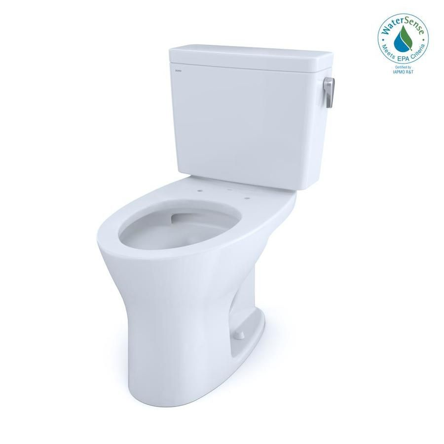 Toto Drake Cotton White Watersense Dual Flush Elongated Chair Height 2 Piece Toilet 12 In Rough In Size Cst746cemfrg 01 In 2020 Toilet Toilet Cleaning Flush Toilet