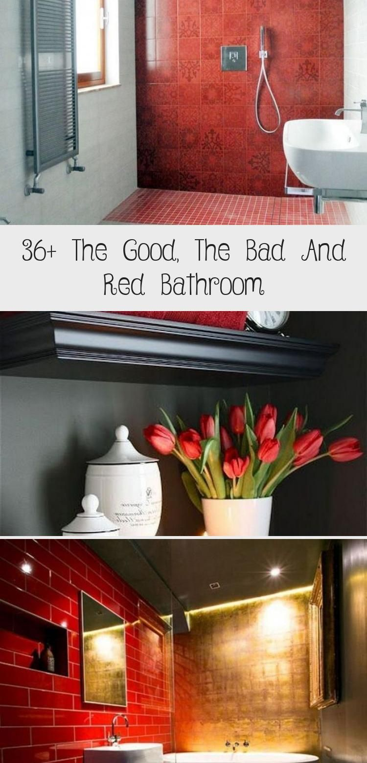 36+ The Good, The Bad And Red Bathroom | Bathroom red ...