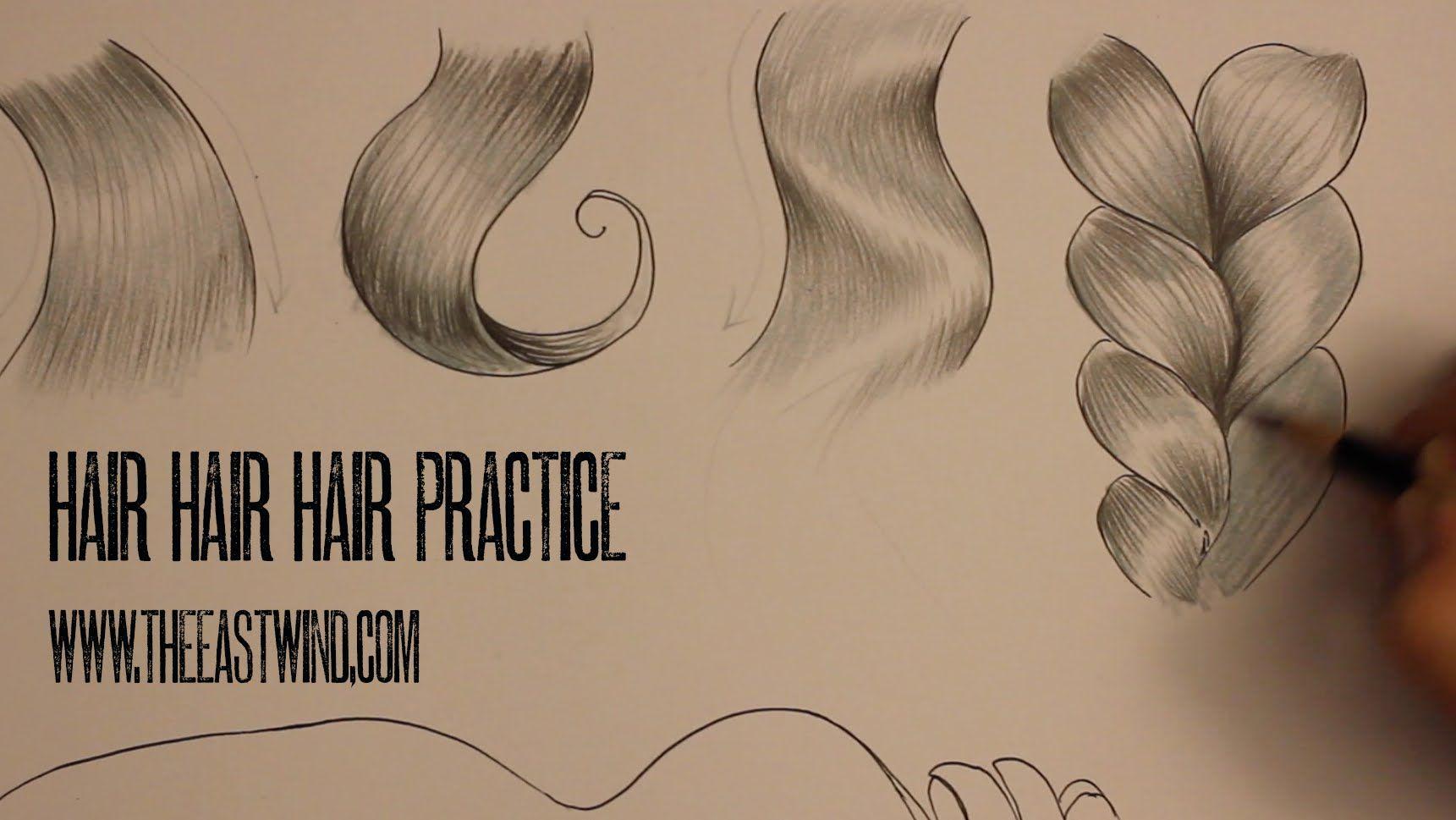 Shading Hair Practice Unky Lastrange Youtube With