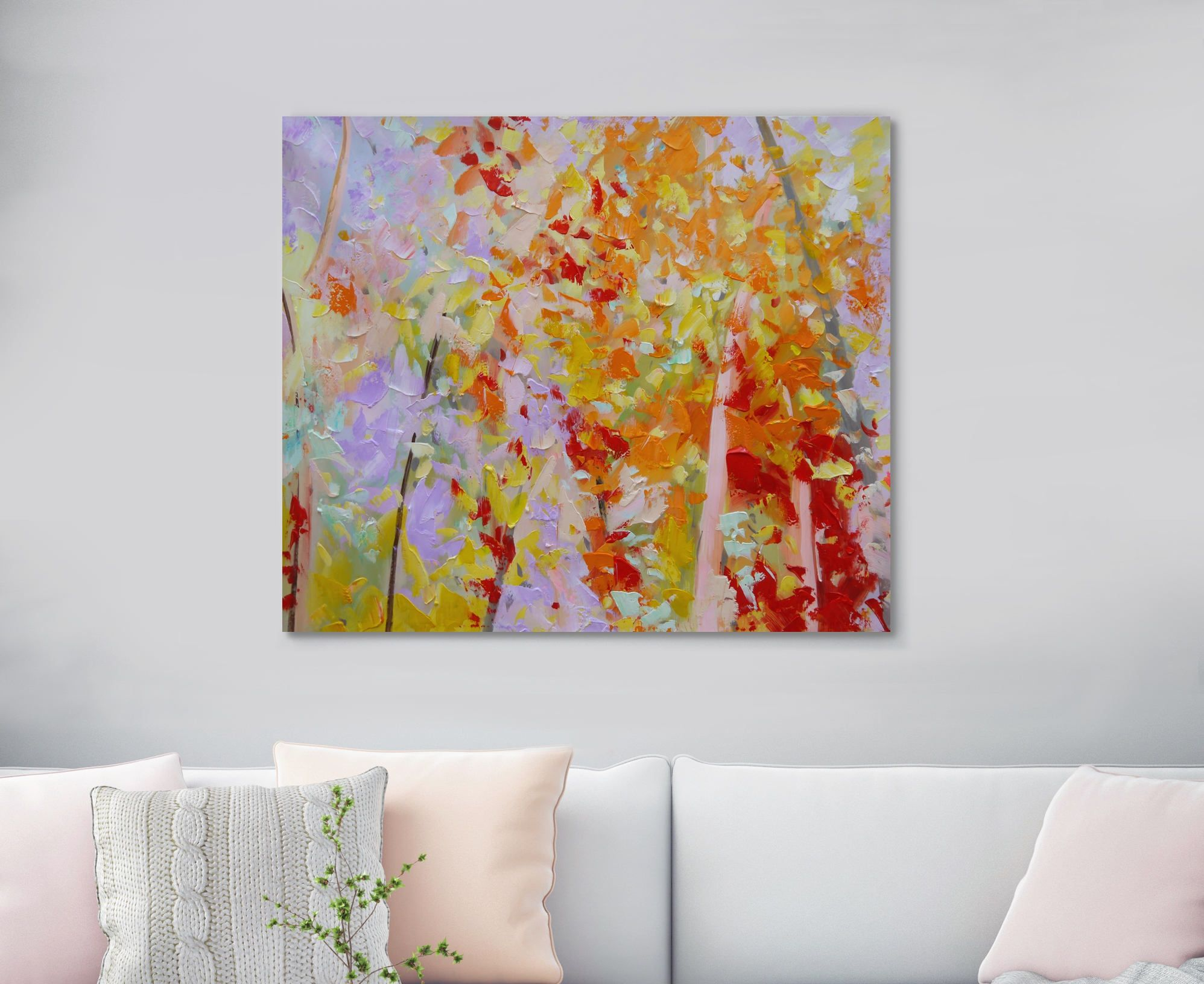 Large Original Oil Painting On Canvas Huge Abstract Tree