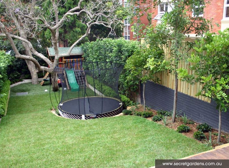 Garden Design With Trampoline did you know you can sink your springfree into the ground? | the