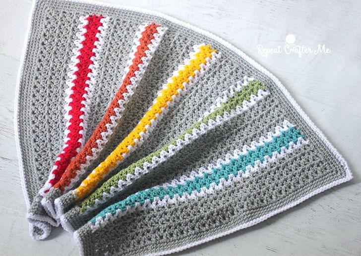 Quick and Easy Rainbow V-Stitch Babyghan | Cuadrados, Puntadas y Manta