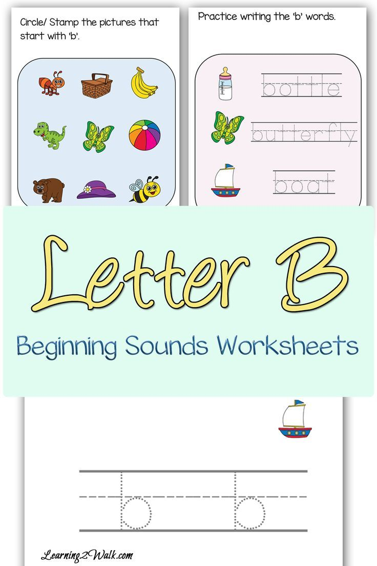 Beginning Sounds B Worksheets | Worksheets, Reading worksheets and ...