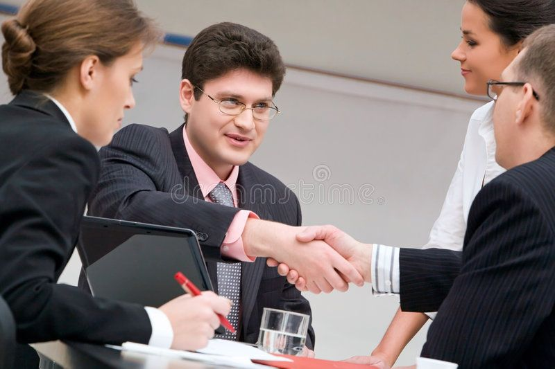 Business Meeting Image Of Businessmen Shaking Hands At Meeting