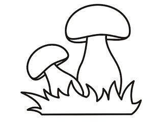 50 desenhos, moldes e riscos de cogumelo para colorir