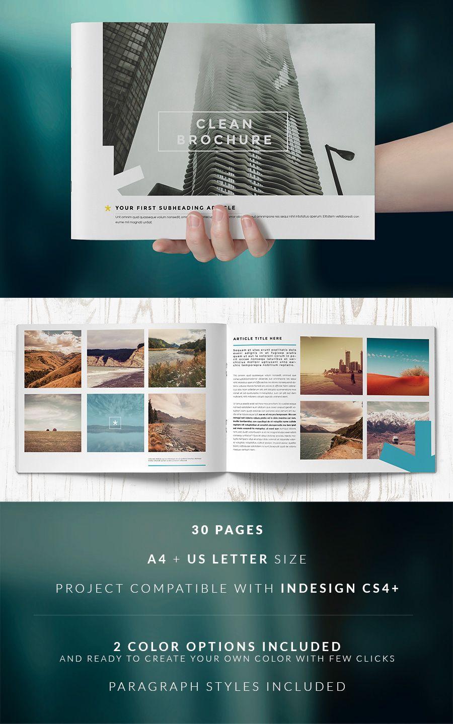 Clean Brochure / Catalog Template on Behance
