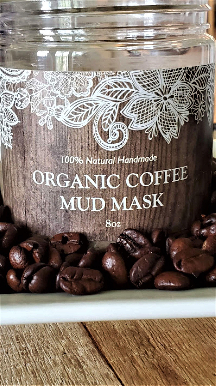 Face mask organic bentonite clay mask coffee mask