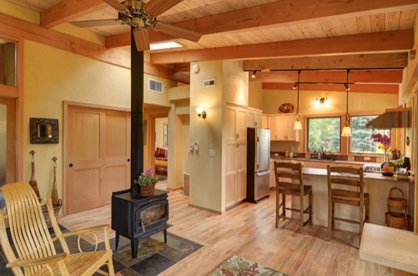 Timberframe kitchen lr layout 800 sq ft small house for 800 sq ft homes