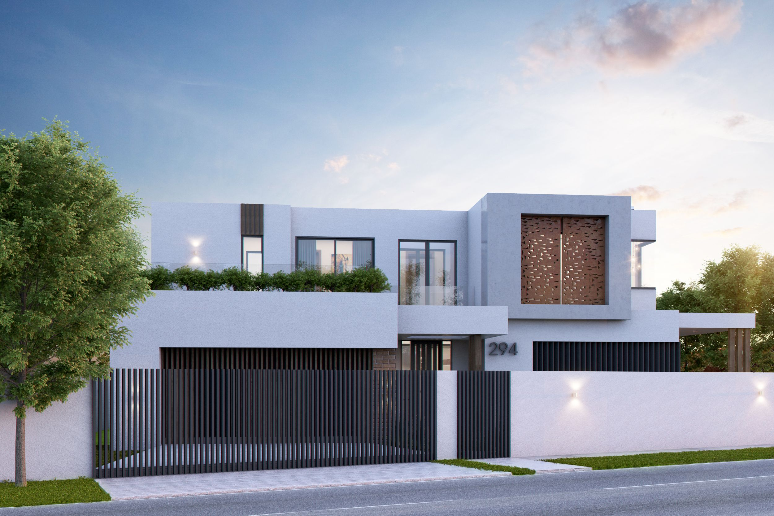 Modern Double Storey Cubic House Designed By L8 Studio House Design House Styles House