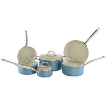 Cerastone Earth Series 10 Pc Nonstick Ceramic Cookware Set Ceramic Cookware Set Ceramic Cookware Cookware Set Nonstick
