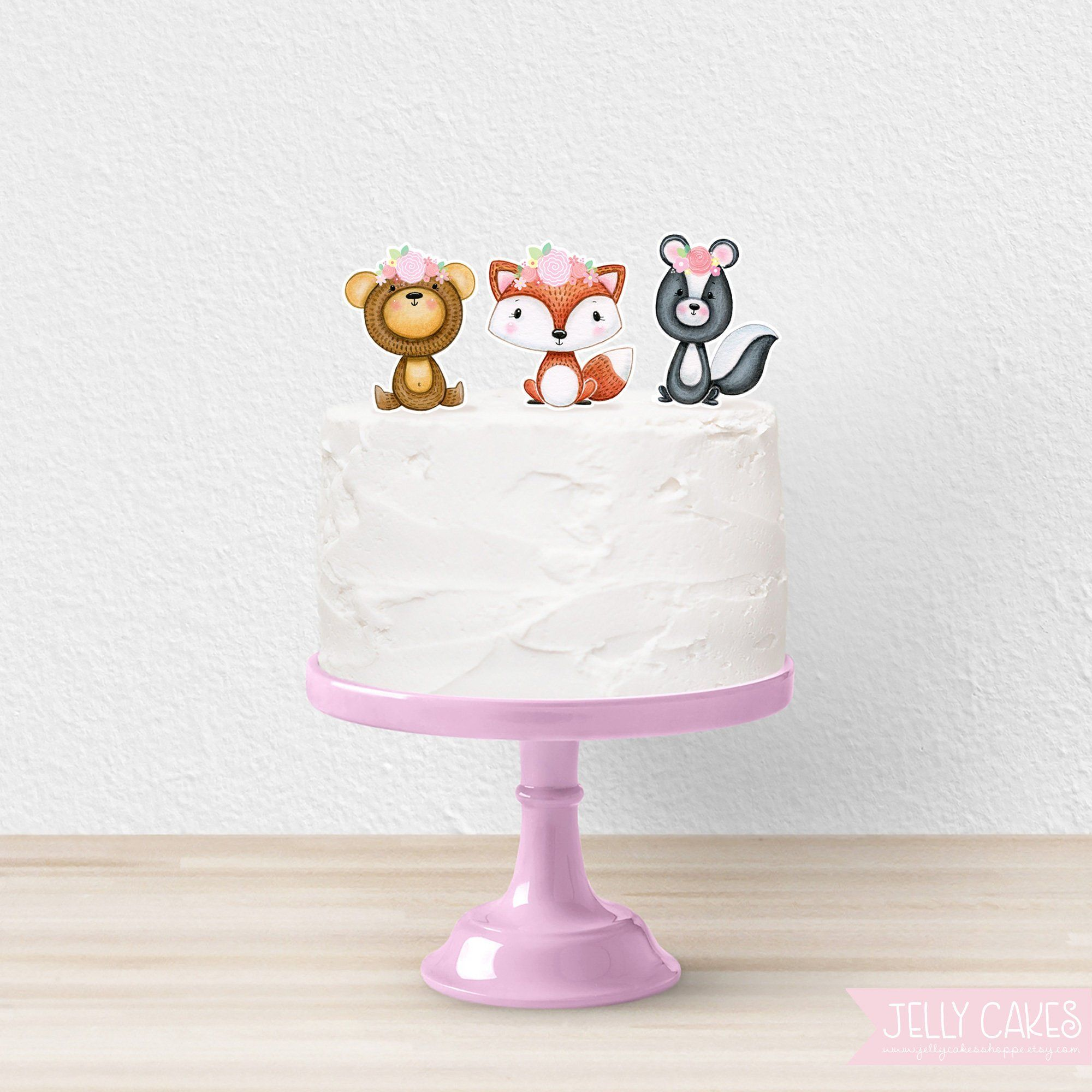 Printable Woodland Animal Cake Toppers Woodland Baby Shower Forest Animal Cake Toppers For Girl Diy Animal Cake Topper Animal Cake Unicorn Cake Decorations