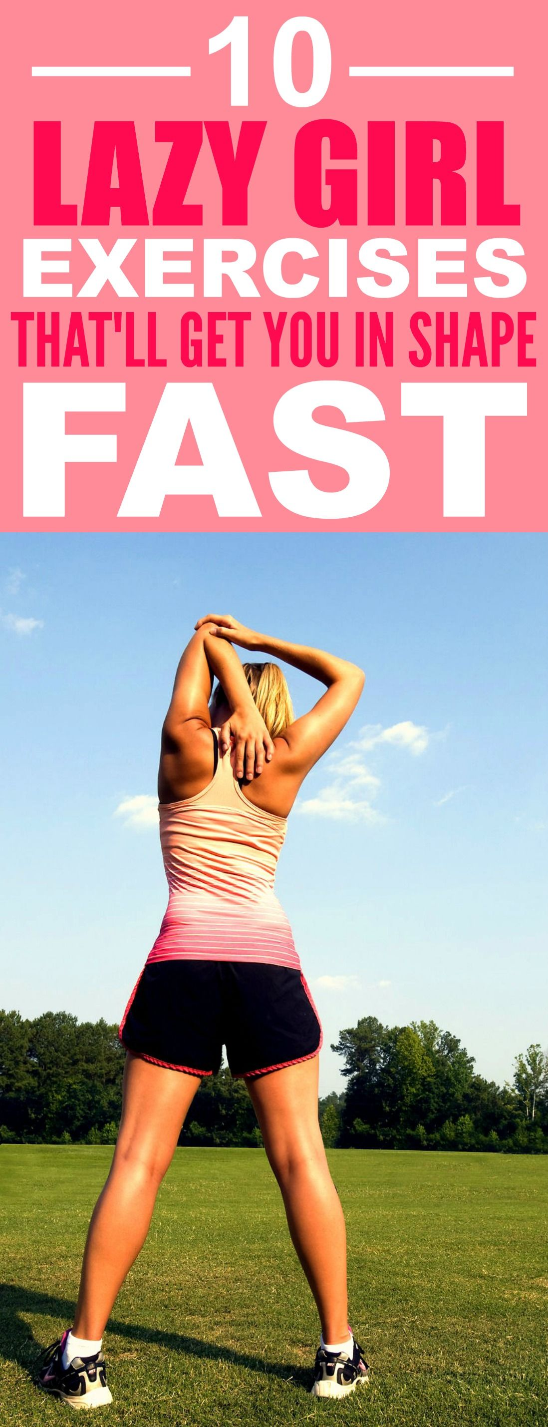 These 10 Lazy Girl Exercises are THE BEST! I'm so glad I found these GREAT tips! Now I can actually lose weight on my own pace! Definitely pinning for later!