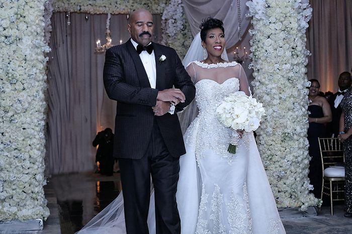 Sterling Photography Steve Harvey Daughter Wedding Karlie Wedding Dress Long Sleeve Wedding Shots Wedding Dresses