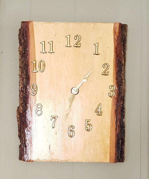 Rustic Wall Clock, Wall Clock Rustic, Clock Wall Rustic, Pine Wood ...