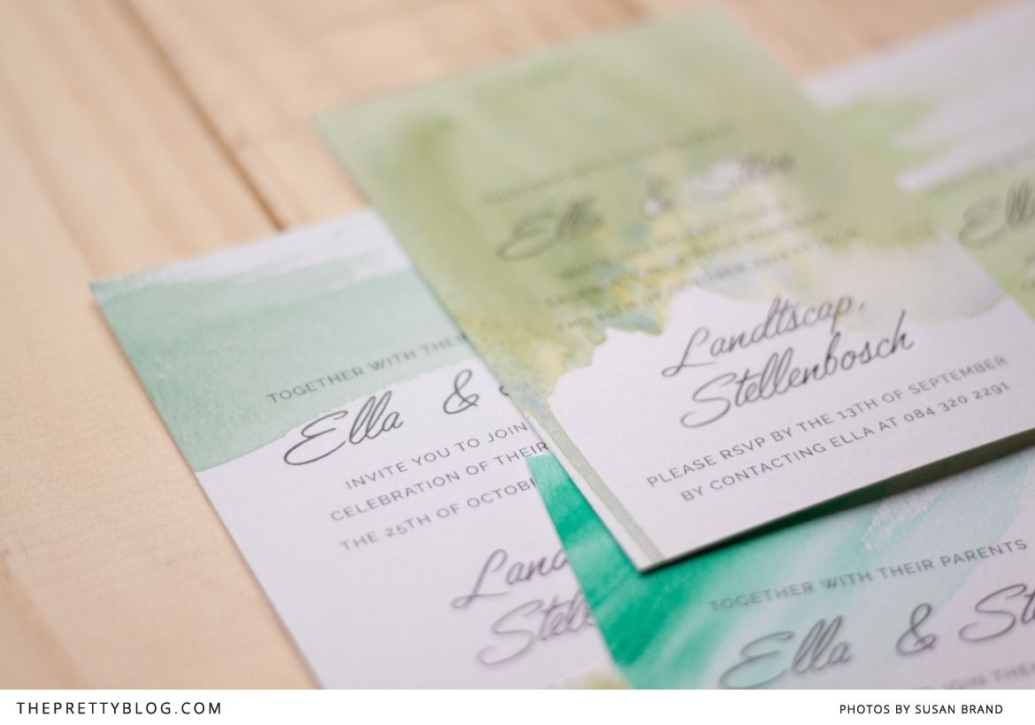 Make Your Own Watercolour Wedding Invitations In 3 Easy