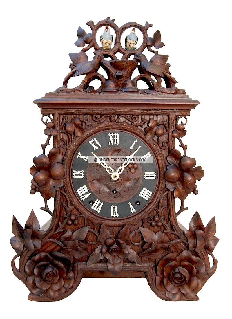 black forest clocks black forest cuckoo clocks with large exposed cuckoo birds black - Black Forest Cuckoo Clocks