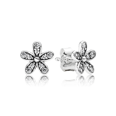 PANDORA | Daisy silver stud earrings with cubic zirconia