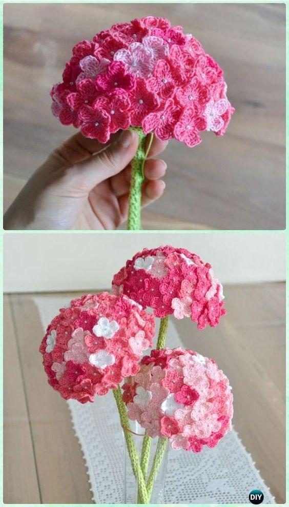 Crochet 3D Flower Bouquet Free Patterns | Flores tejidas, Flores y ...
