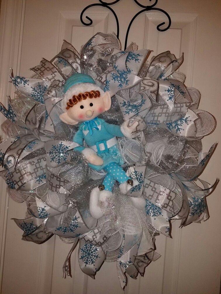 Elf's feeling blue...by Wreaths on Wadsworth Lane