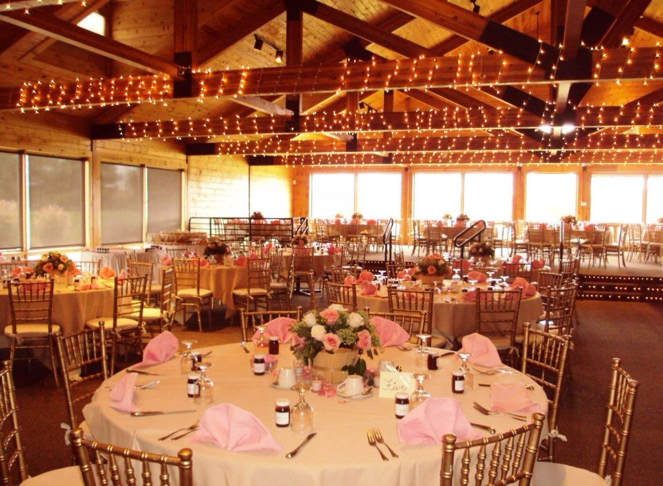 Myth Wedding Venues Banquets And: Dressed Up In Pastels With A Rented Gold Chair From Bonnie