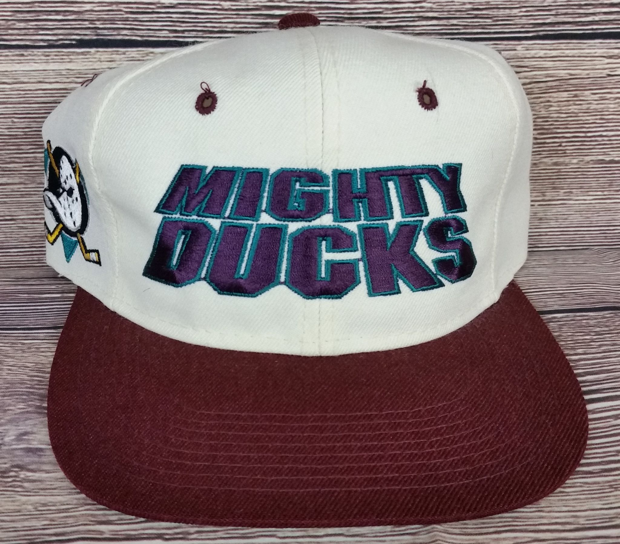 Anaheim Mighty Ducks Vintage Snapback Sports Specialties Script Hat Wool  Rare OG 564c84581863