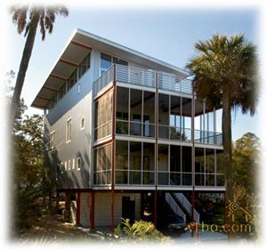 Vrbo Com 165106 Modern Open And Airy Vacation Homes For Rent Folly Beach Rental Modern Beach House